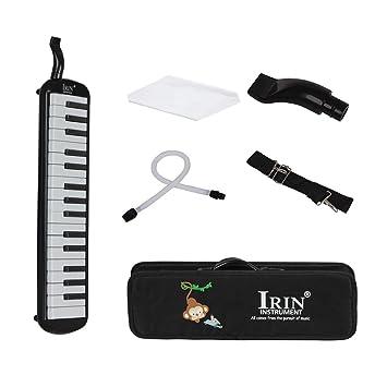 Homyl - Armónica para teclado de 32 teclas (melodía, en estuche, instrumento musical