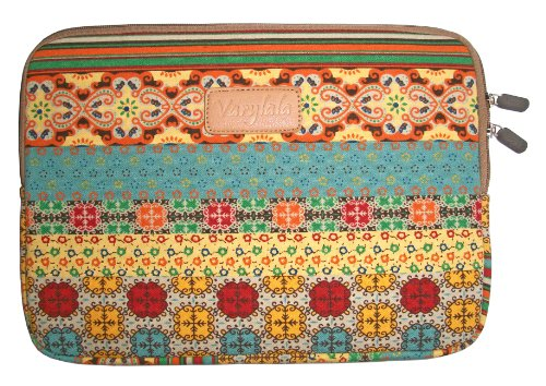 Varylala Bohemian Style Canvas Sleeve Case Bag Cover for 11-inch Laptop / MacBook Air / Samsung Chromebook (Bohemian Pattern, 11 inch) (11 Inch Chromebook Case Picture)