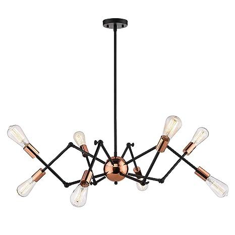 Amazon.com: Jazava Lámpara de araña industrial moderna con ...