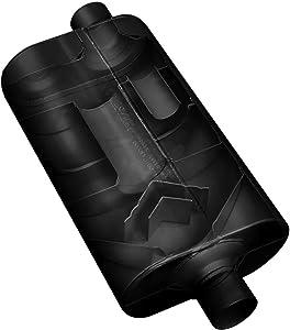 Flowmaster 52556 Super 50 Muffler - 2.50 Offset IN / 2.50 Center OUT - Moderate Sound,Black