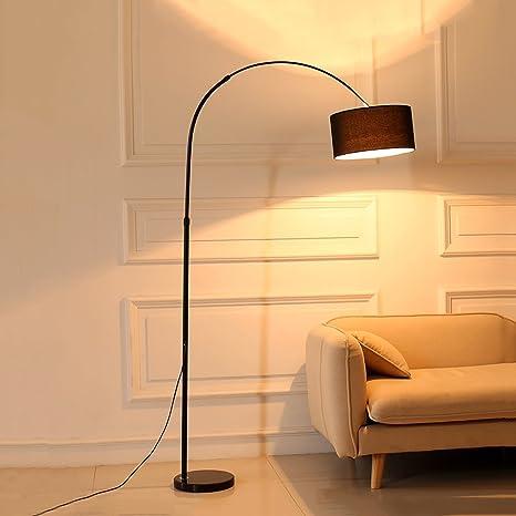 Lampada Da Terra Ad Arco Shade E Base Robusta Perfetta Forma