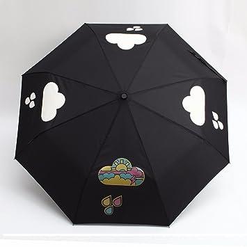 SSBY Paraguas paraguas plegable 30 por ciento Corea creative chica PARAGUAS paraguas de vinilo o de