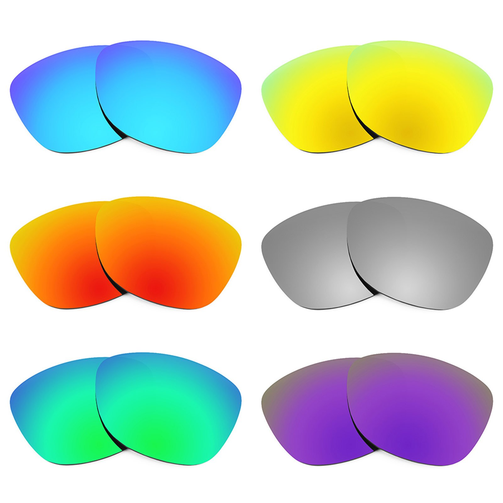 Revant Replacement Lenses for Oakley Frogskins 6 Pair Combo Pack K027 by Revant