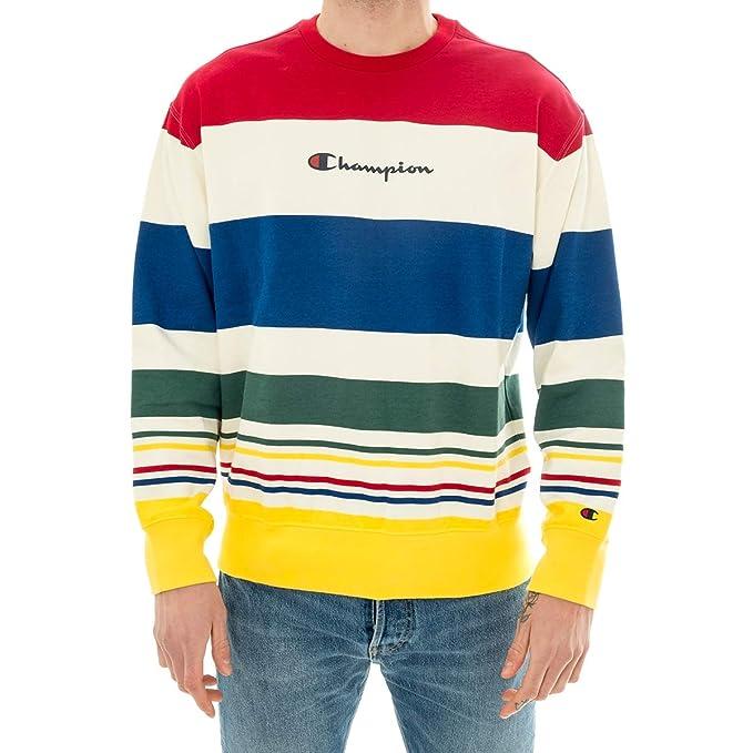 Champion Rochester 212792-CREWNECK-SWEATSHIRT Sudadera Hombre Wl009-multicolor XS