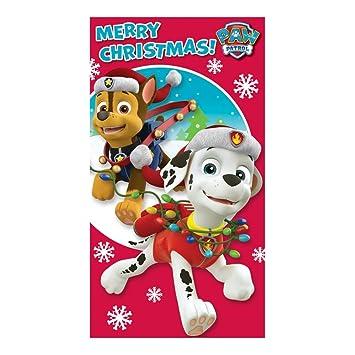 Paw Patrol Christmas.Amazon Com Paw Patrol Merry Christmas Card Health