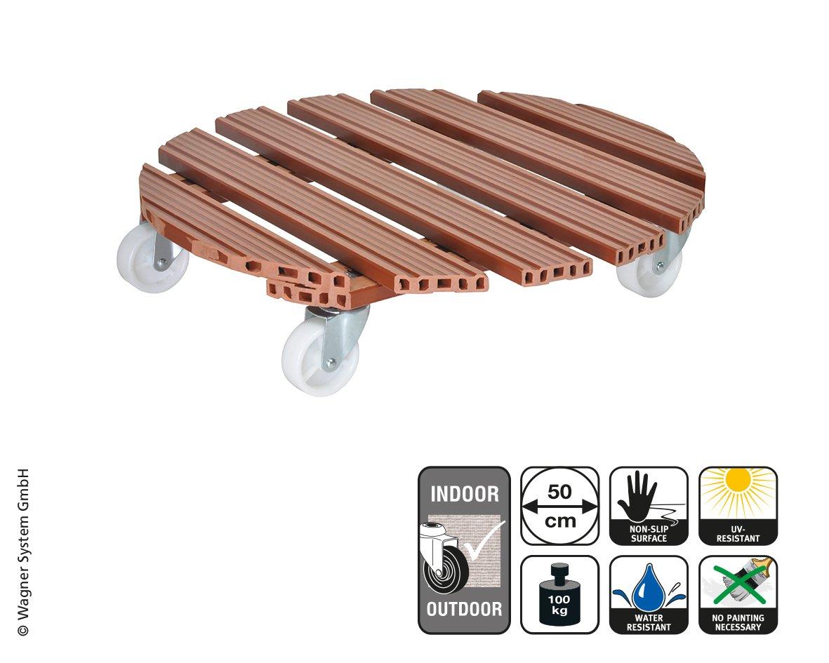 Wagner System 20057501 Multi-Roller Wpc Gardening Wagon, Terracotta