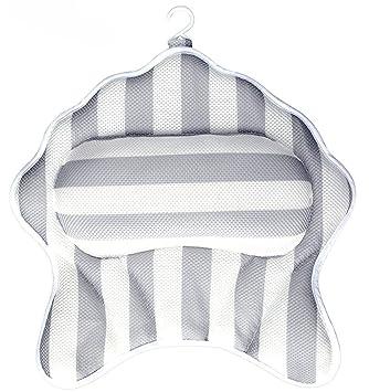Hot Tub Jacuzzi Tebery Bath Pillow Cushion with 6 Suction Cups 3D Mesh Bath Neck Pillow for Bathtub