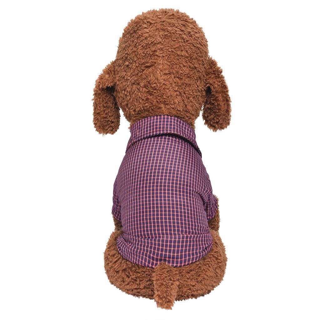 XL,Rosso Xmiral Adatti a Vestiti Comodi del Gatto del Modello del Plaid di Autunno di Estate della Camicia del Cane di Animale Domestico
