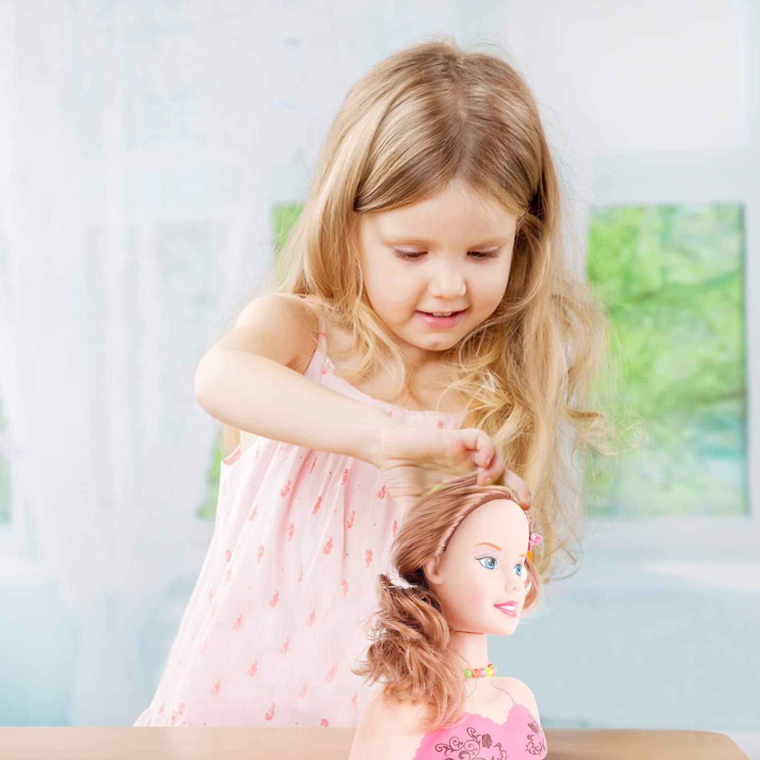 Brunette Liberty Imports Princess Styling Head Doll Playset with Beauty and Fashion Accessories for Girls
