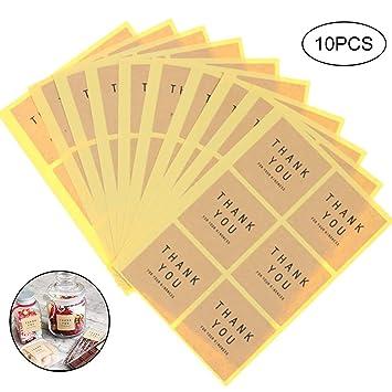 deanyi 60 pcs thank You Seal etiqueta adhesivo decorativo Plaza Circle Sticker hecho A MANO para sobre decoración cocción Bag Galleta Bolsa Cuadrado ...