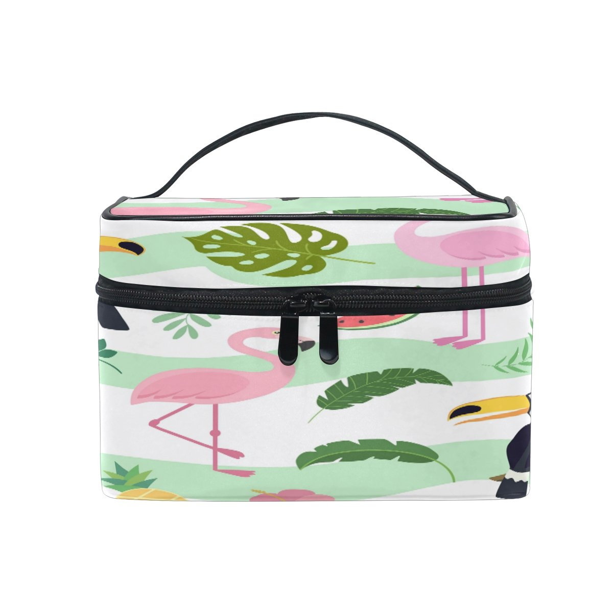 THUNANA Animals Multifunction Makeup Storage Organizer Case Handle Toiletry Cosmetic Portable Pouch Bag for Women Girl
