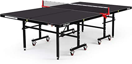 Black Adjustable Weather Resistant Table Tennis Table with Storage Pockets Killerspin MyT7 Outdoor Folding Ping Pong Table Tournament Quality Construction for Outdoor Competition BlackStorm