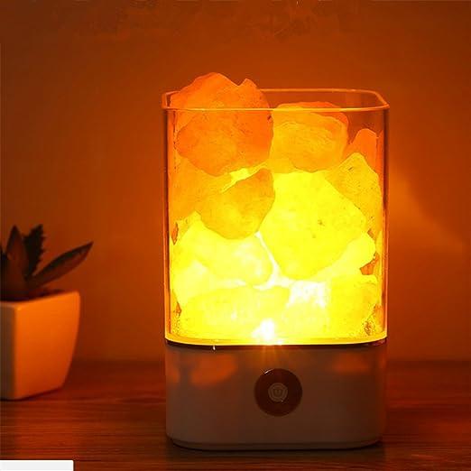 USB Himalayan Salt Lamp Natural Crystal Led Pequeña Lámpara De ...