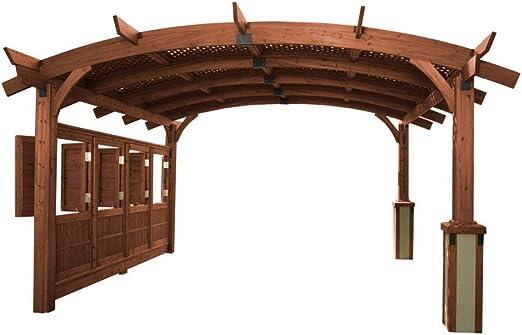 Sonoma arco – Pérgola de madera 16 x 16 pies.: Amazon.es: Jardín