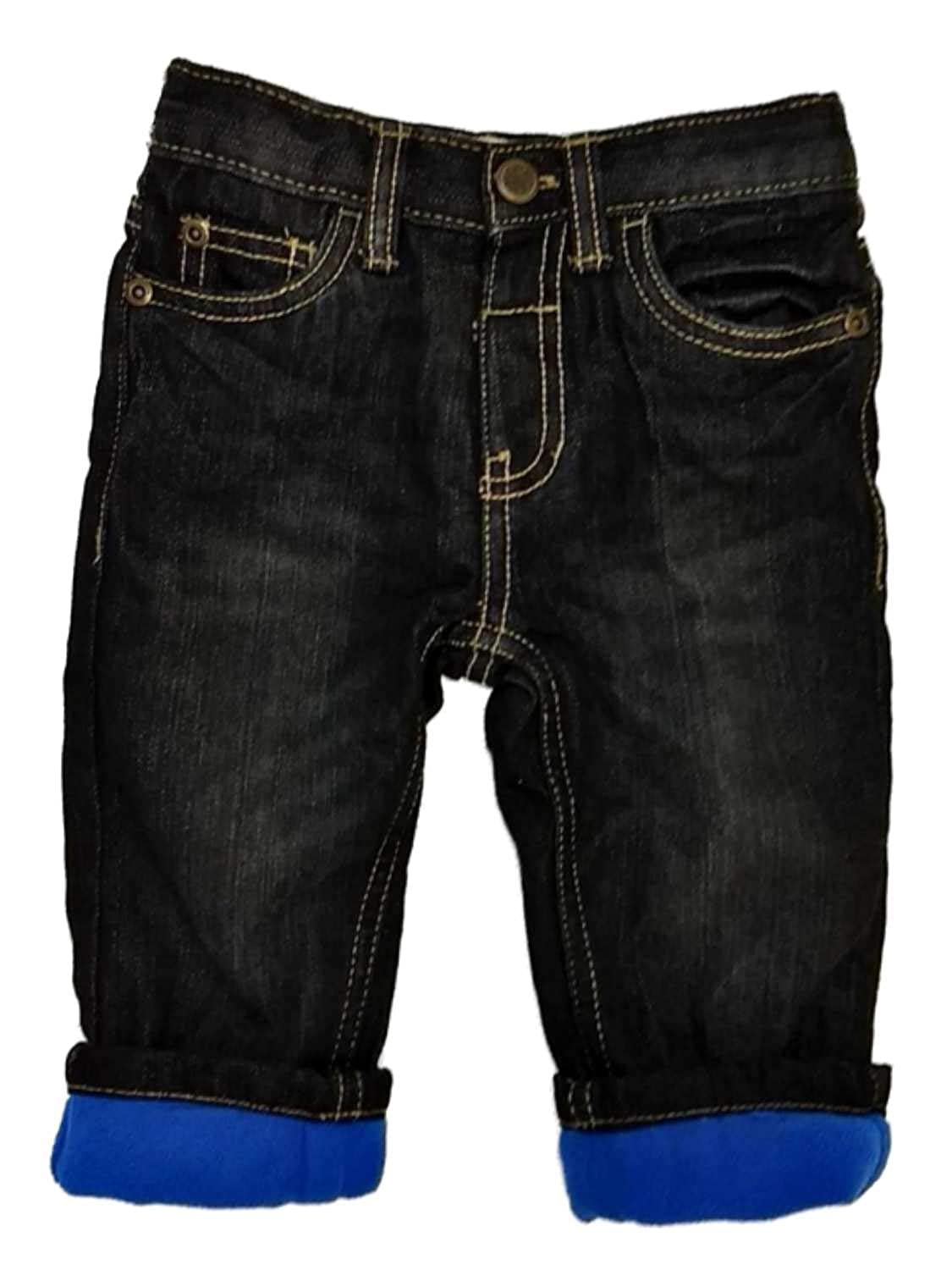 Toughskins Infant Boys Black Relaxed Fit Fleece Lined Jeans Insulated Baby Pants