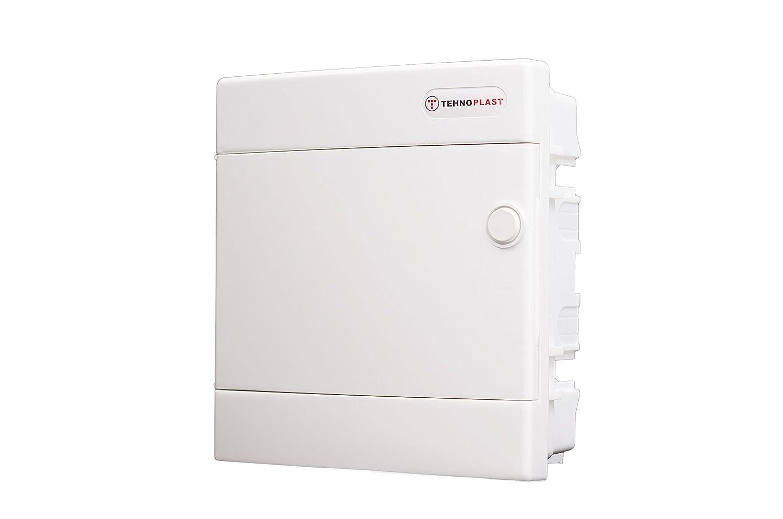 Sicherungskasten Unterputz IP40 Feuchtraum Verteiler Gehä use 1-reihig bis 8 Module Weiß e Tü r Spitzenspannung Elektrotechnik