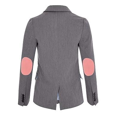 ALLBOW, Grauer Damen Blazer mit Ellenbogen-Patches optional,  Baumwoll-Blazer  Amazon.de  Bekleidung f724649476