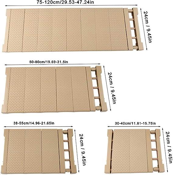 Armario Compartimiento de Almacenamiento Separador de Visualizaci/ón Recopilaci/ón Partici/ón Estante Pl/ástico Ajustable Hierro S M L XL Small