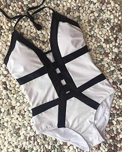 Donna Costumi interi Uno Pezzo Costume Da Bagno Bagnarsi Spingere Imbottito Bikini Tuta Beachwear S