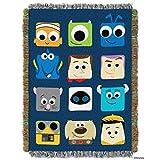 "Disney-Pixar's ""Pixarland"" Woven Tapestry Throw Blanket, 48"" x 60"", Multi Color"