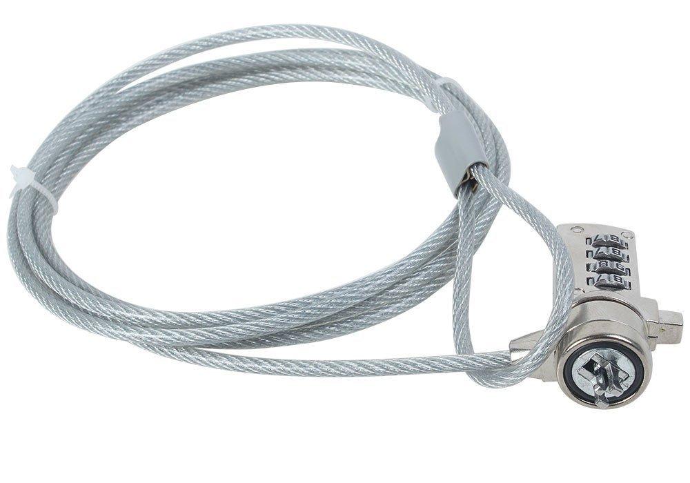 TRIXES Cable de Seguridad para Ordenador Portátil Candado Código de Combinación: Amazon.es: Electrónica