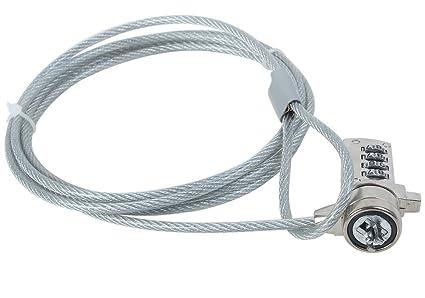 TRIXES Cable de Seguridad para Ordenador Portátil Candado Código de Combinación