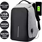 AllExtreme Anti theft Backpack Waterproof Business Laptop Bag with USB Charging Port for 14 Inch Laptop, Notebook, Camera and Mobile (Grey)