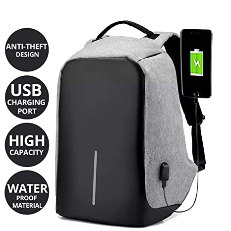 def7ba2d7923 AllExtreme Anti theft Backpack Waterproof Business Laptop Bag with USB  Charging Port for 14 Inch Laptop