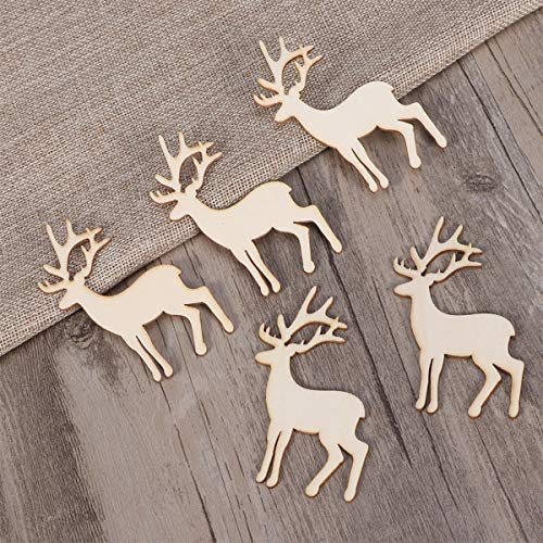 Bazzano 5pcs Wood Tag Wooden Reindeer Cutout Pieces