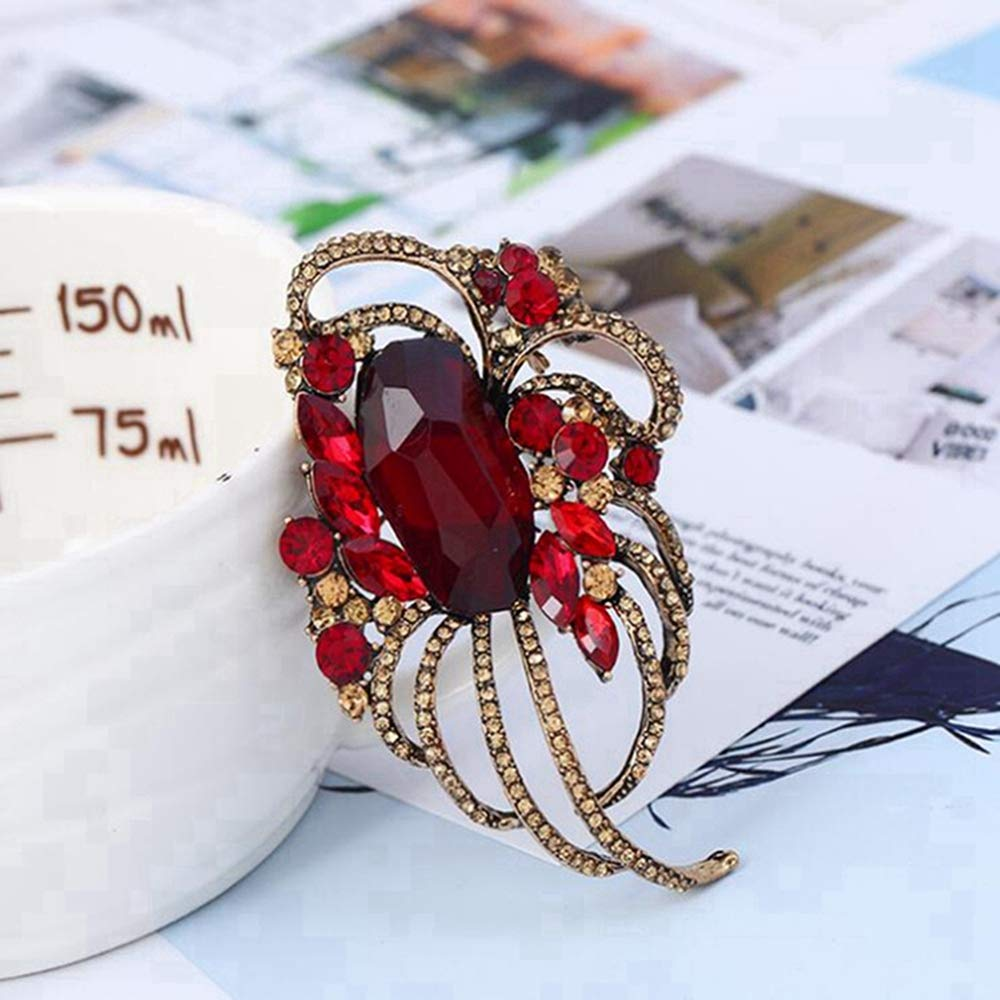 Full Drilling Hollowed Brooch Lady Jewelry 72x44mm Sxuefang Brooch,Popular Clothing and Creative line pins