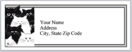 amazon com 120 personalized return address labels black white