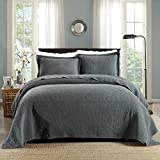 quilts coverlets - Quilt Set, Cotton World Li Premium 3 Piece Oversized Coverlet Set as Bedspread Bed Cover Reversible Elegant Luxury Comfortable LightWeight - Wrinkle & Fade(94.5