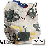 LittleBloom Nappies, Wiederverwendbare Windeln mit Einlage, Druckknopf, Verschiedene Motive