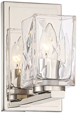 Possini Euro Kitta 8 High Polished Nickel Wall Sconce Amazoncom