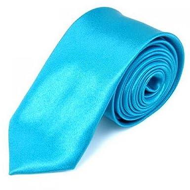 OM3 Turquesa estrecho fina corbata (turquesa) Handmade Uni Tie ...