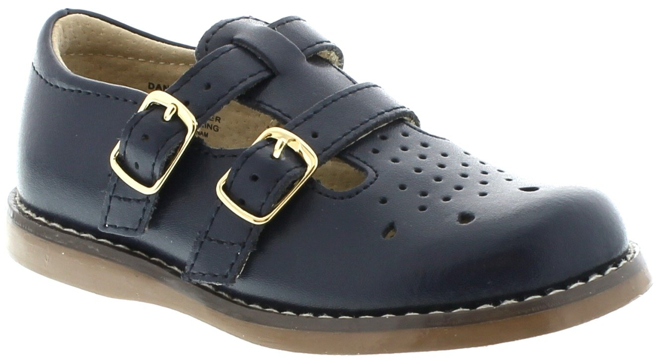 FootMates Baby Girl's Danielle 3 (Infant/Toddler/Little Kid) Navy Flat 9.5 Toddler M/W by FootMates
