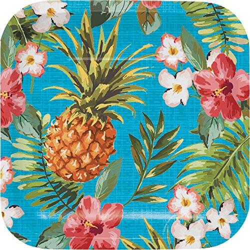 Aloha Square Dessert Plates, 24 ct