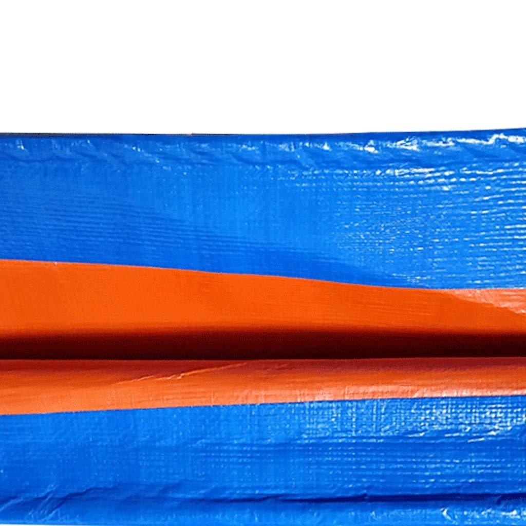JLZS-Tarpaulin Starker Poncho Regendichte Sonnencreme Farbstreifen Wasserdichte Tuchplane Blauer Blauer Blauer Poncho Sonnenschutz Autoplanung (Farbe   Blau, größe   3  6) B07MQ96FVS Zeltplanen Online-Shop 41b917