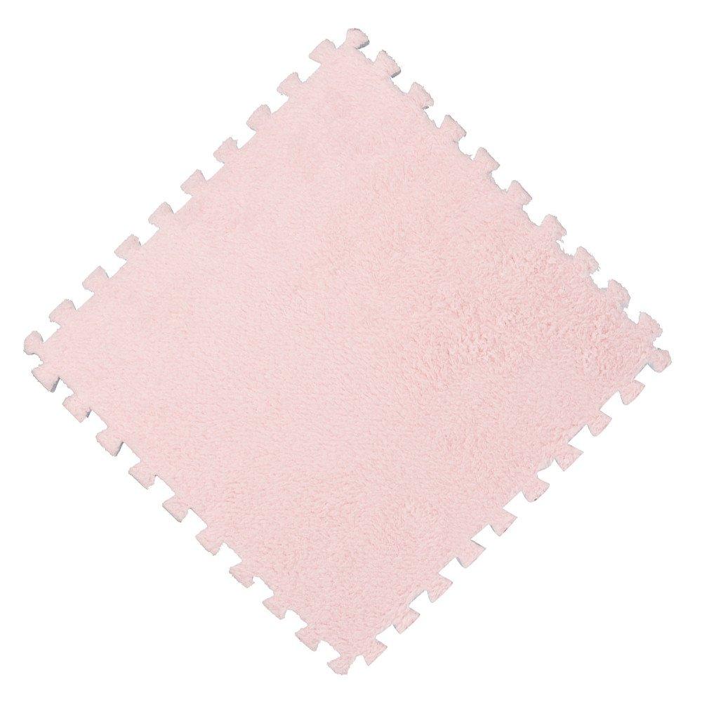 LiPing 9.8X9.8in Kids Carpet Foam Puzzle Mat EVA Bath Mats Easy Bathroom Perfect for Mat Shower, Tub,and Bath Room Any Hard Floor Doormats Decor (B)
