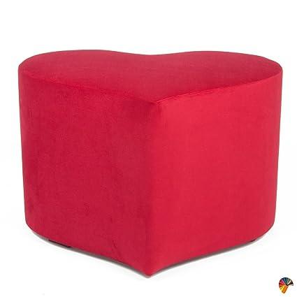 Arketicom LOVE ME Pouf Poggiapiedi Design Puff a forma di Cuore ...