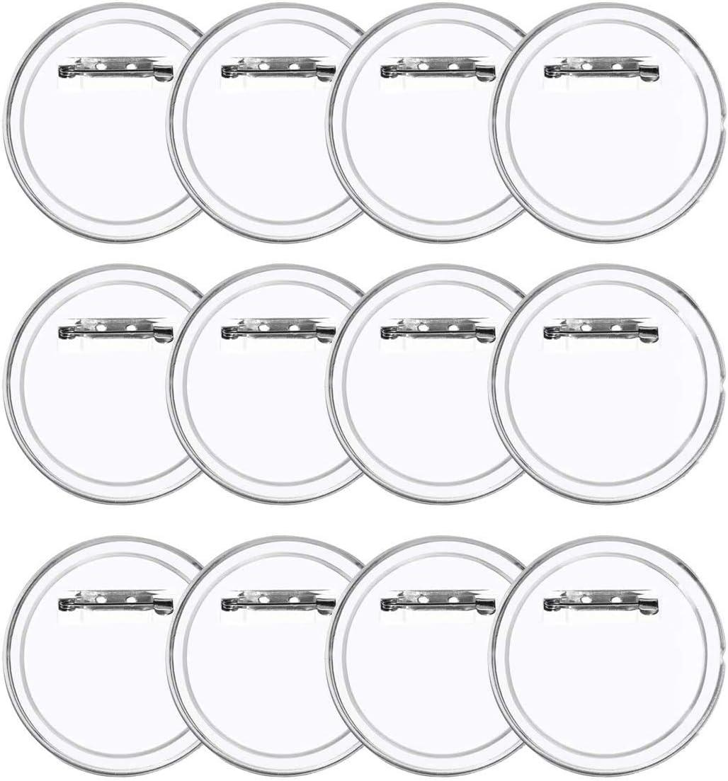LAKIND 36 Piezas Chapas Personalizadas Botón de Pin Redondo de la Solapa de acrílico de la Insignia, plástico Transparente Craft para Las Insignias de DIY