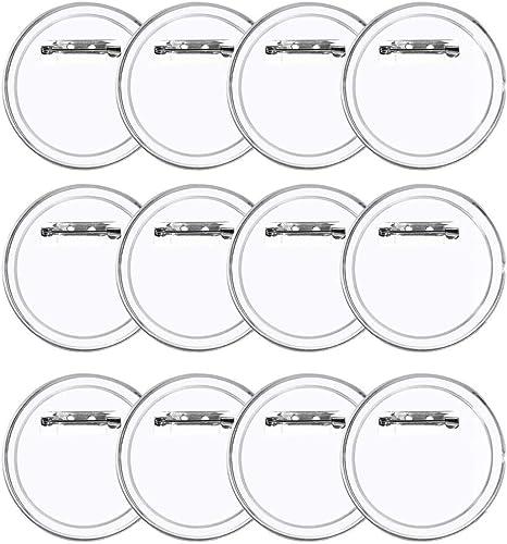 LAKIND 36 Piezas Chapas Personalizadas Botón de Pin Redondo de la Solapa de acrílico de la Insignia, plástico Transparente Craft para Las Insignias de DIY: Amazon.es: Hogar