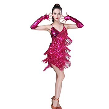 Huatime Latino Danza Traje Vestidos Mujer - Mujeres Lentejuelas ...