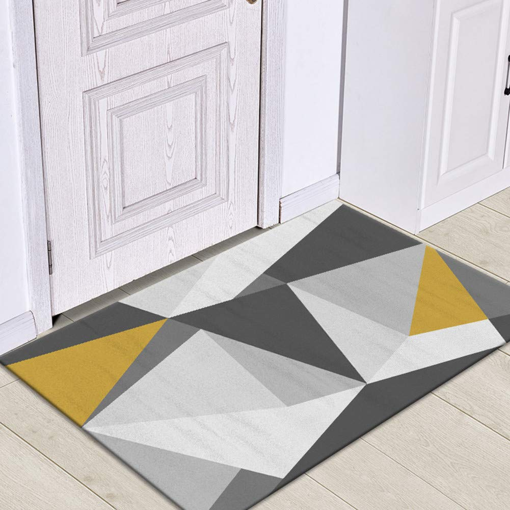 TriangleC 60x90cm(24x35inch) Door mat,Front Entrance Door mat Entrance Rug Low Profile Door mats Non-Slip mat Front Door mat-GeometryF 80x120cm(31x47inch)