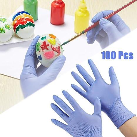 cuisine jardinage nettoyage gants en nitrile 1 Changli Lot de 100 gants jetables pour enfants sans poudre pour travaux manuels sans latex de qualit/é alimentaire S 100pcs peinture