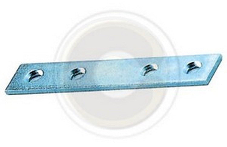 Spessore 2 mm Larghezza 15 mm Argento Sipa 1//12 Lastrina Diritta Set di 100 Pezzi 14 cm