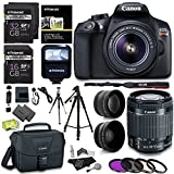 Canon EOS Rebel T6 Digital SLR Camera Kit + EF-S 18-55mm f 3.5-5.6 IS II Lens + Pro .58x & 2.2x Lenses + Lexar 48GB Memory + 57