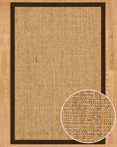 NaturalAreaRugs Melrose Collection Sisal Area Rug, Handmade in USA, 100% Sisal, Non-Slip Latex Backing, Durable, Stain Resistant, Eco/Environment-Friendly, (3 Feet x 5 Feet) Fudge - Slip Sisal Latex Non Rug