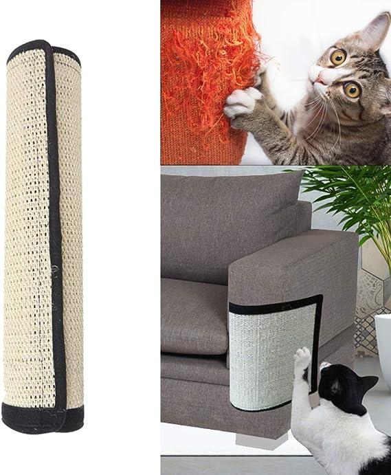 SIQDAK Almohadilla rascador para gato para montar en el suelo o en la pared, sisal natural para gatos, protector de arañazos y protector de sofá, accesorios para gatos: Amazon.es: Productos para mascotas
