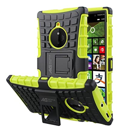 the latest 5df0a 264e6 Nokia Lumia 830 Case - Armatus Gear (TM) Pixel Rugged Hybrid Armor Case  Shockproof Tough Cover Protector TPU + Rubberized PC with Kickstand For ...